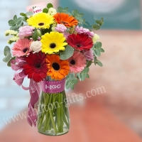 Table Bouquet In Glass