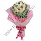 Hand Bouquet Pink Roses