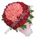 99 stalk mix Red and Pink Roses hand bouquet