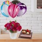Marble Rainbow Balloon & Cake