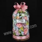 Dusky Pink - Glass Arrangement Roses