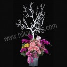 Pink Roses - Artificial Arrangement, Pink Roses & Orchid