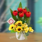 Red Tulip Artificial Flower