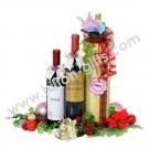 Wine hamper with  holder