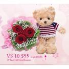 Bear & Hand Bouquet