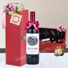 Wine hamper with wine holder
