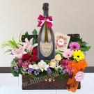Moet & Chandon Cuvee Dom Perignon Champagne  hamper & flower