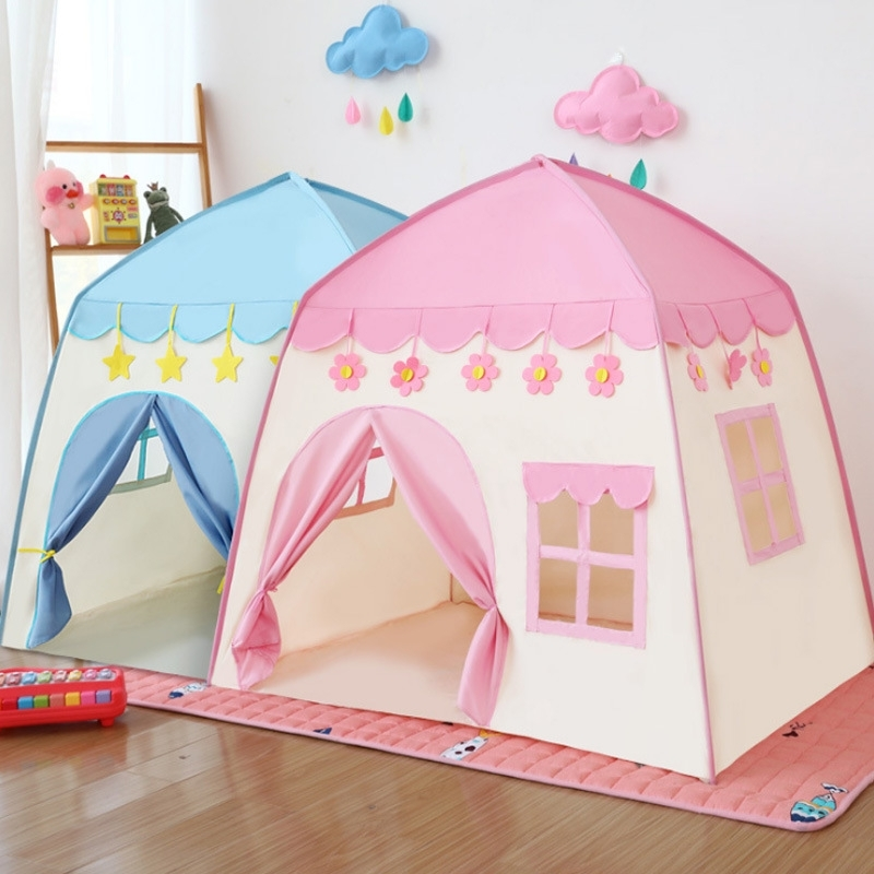 DIY TENT House window pink or blue