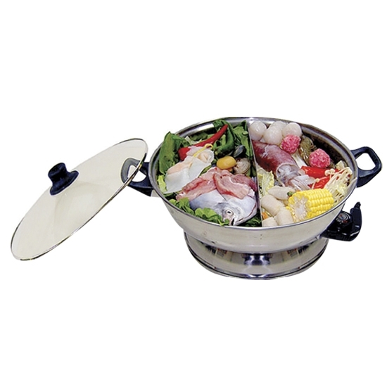 2-In-1 Steamboat Stainless Steel Hot Pot - Electrical Hamper