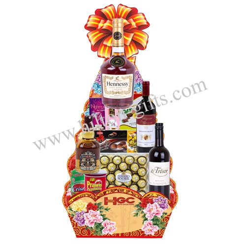 Food Hamper Alcohol - Hennesy & Wine