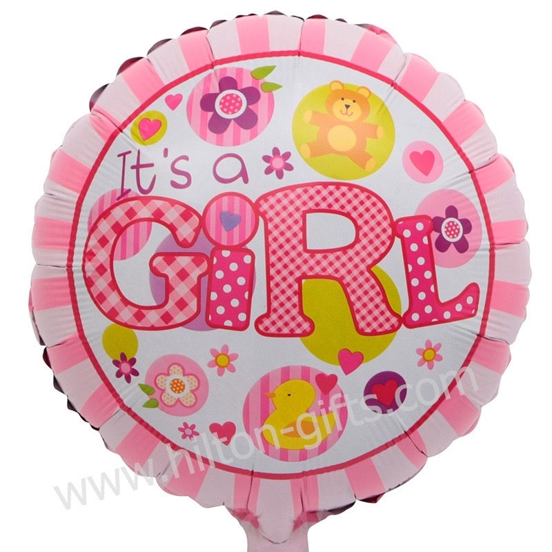 Baby Girl Pink (Round)