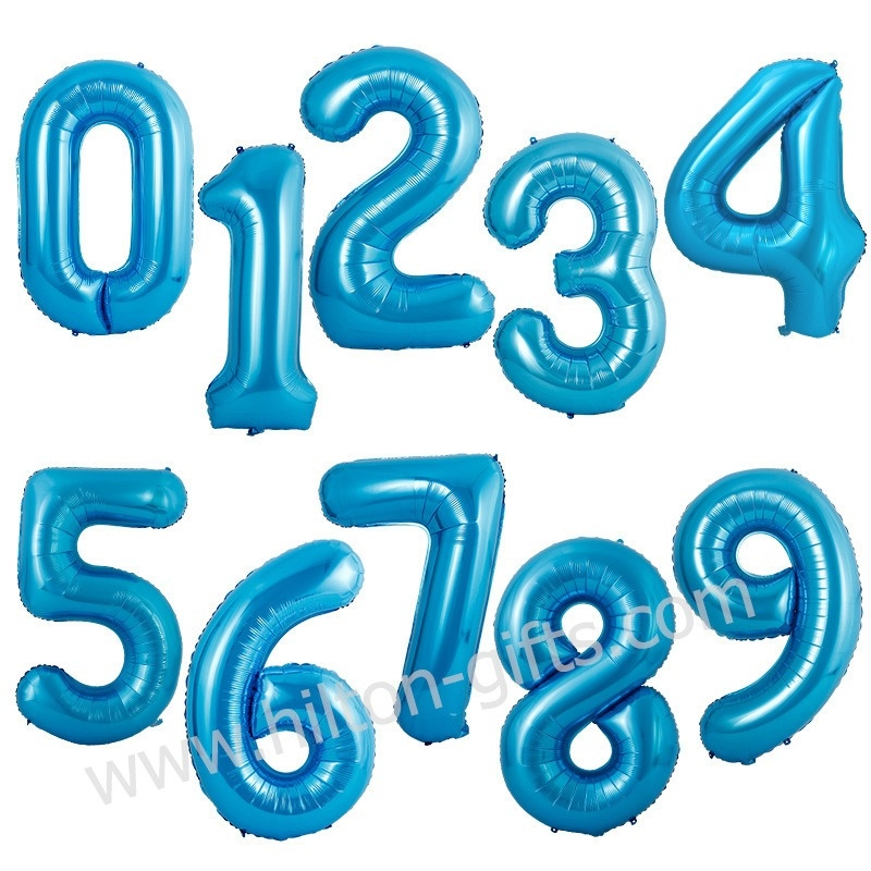 Numeric Balloon - Blue