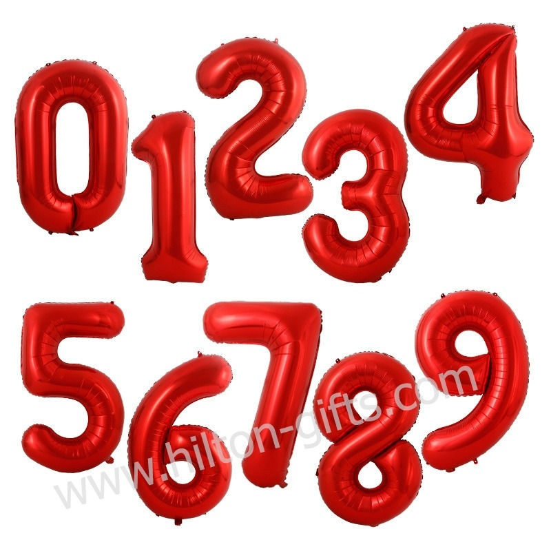 Numeric Balloon - Red