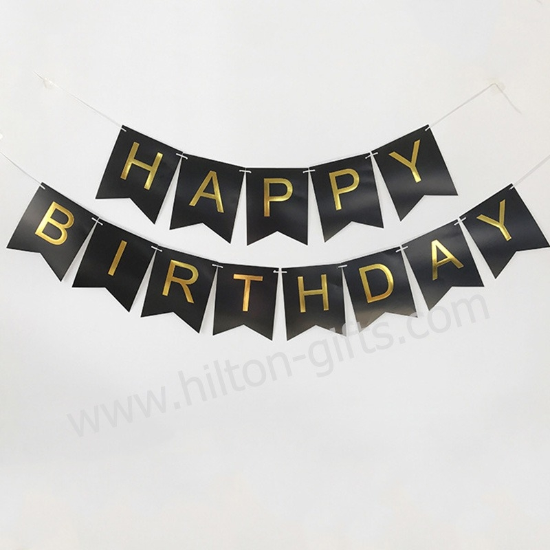 Birthday Banner - Black
