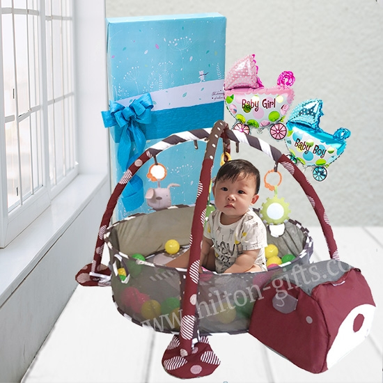 Baby Play Gym Blue /Red/Pink
