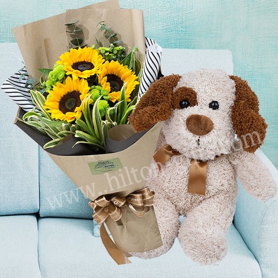 DOGGY LOVE - Hand Bouquet and Doggy