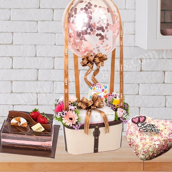 Flower & Cake (Balloon)