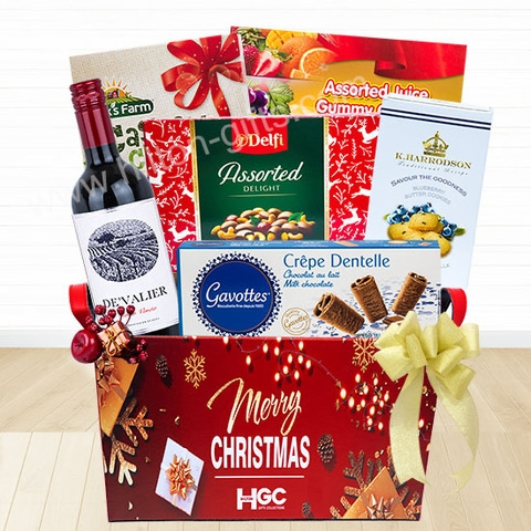 Christmas Wine & Chocolate Hamper