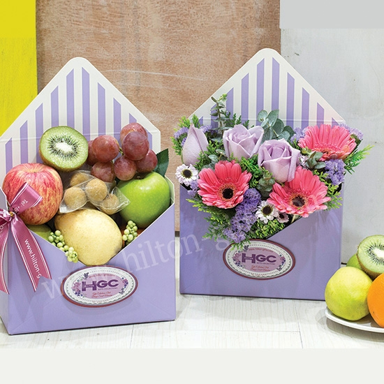 Fresh fruits & flower Basket-Fresh & Fruity