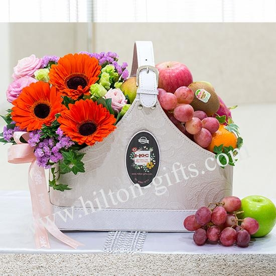 Healthful Thoughts - Flowers & Fruits Arrangement
