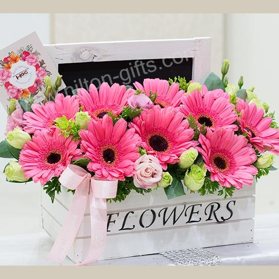 Table Bouquet - PINK GERBERAS