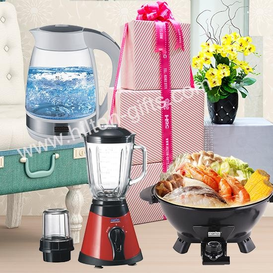 LED Kettle,Blender & Multi Cooker	- Electrical Hamper
