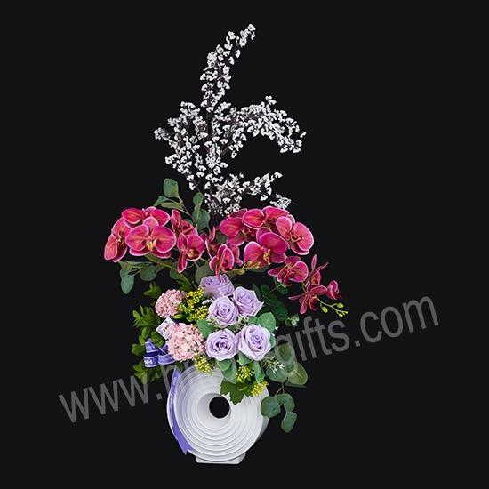Sweet Elegant - Artificial Arrangement, Red Phalaenopsis