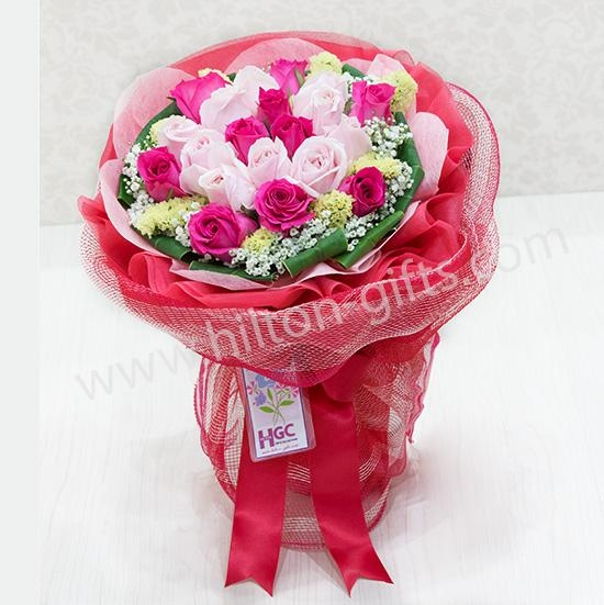 Sweet Pink Roses hand bouquet