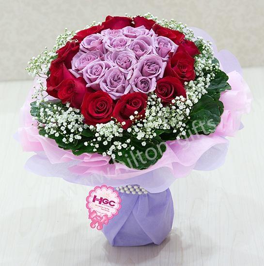Hand Bouquet PURPLE ROMANTIC