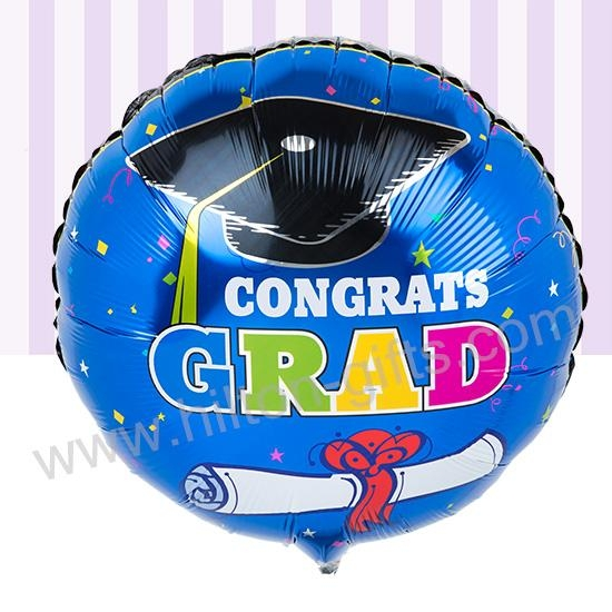 Graduation Blue Balloon