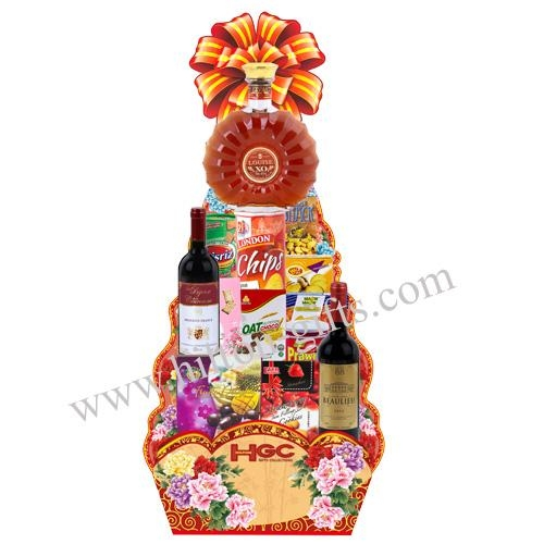 Food Hamper Alcohol - XO & Red Wine
