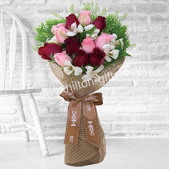 Hand bouquet Alstroemeria