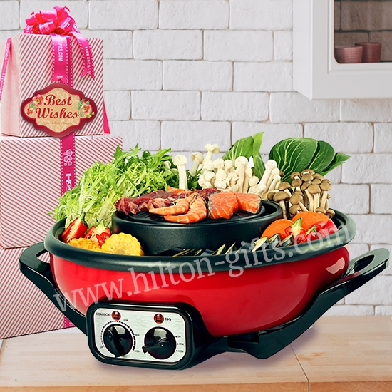 2 in 1 Mookata Steamboat - Electrical Hamper