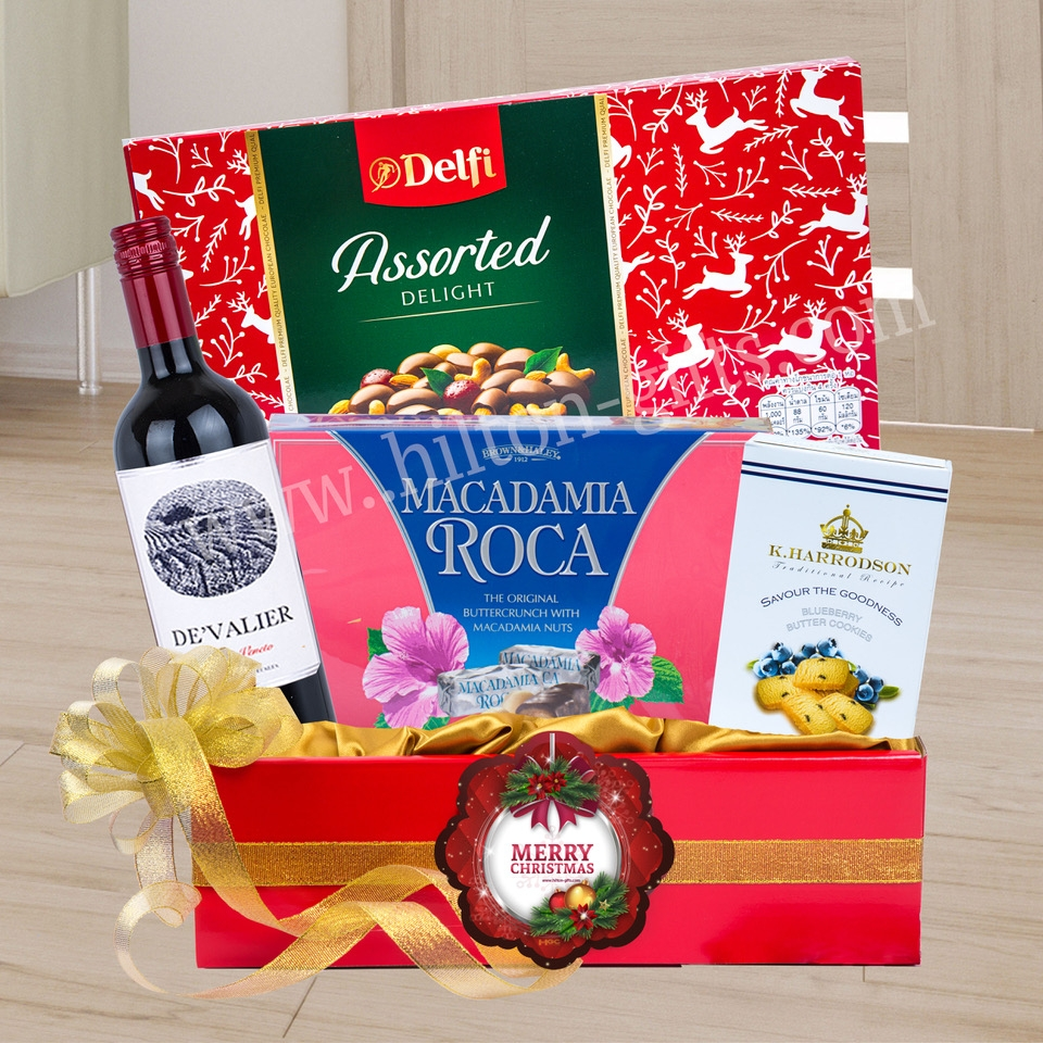 Christmas Chocolate and Wine Hamper