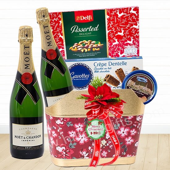 Christmas Moet & Chandon Chocolate Hamper