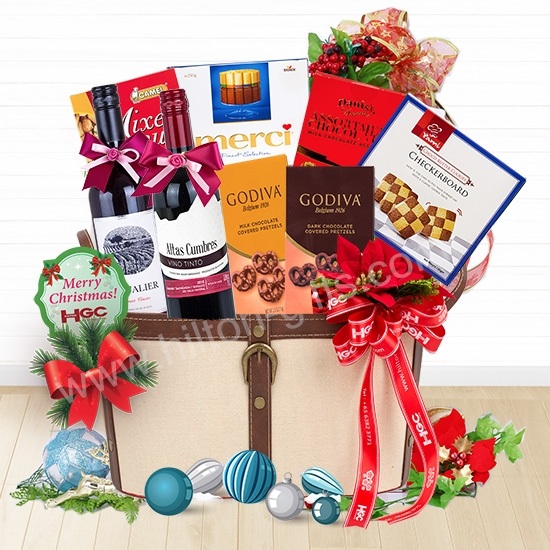 Christmas Double Wine Hamper