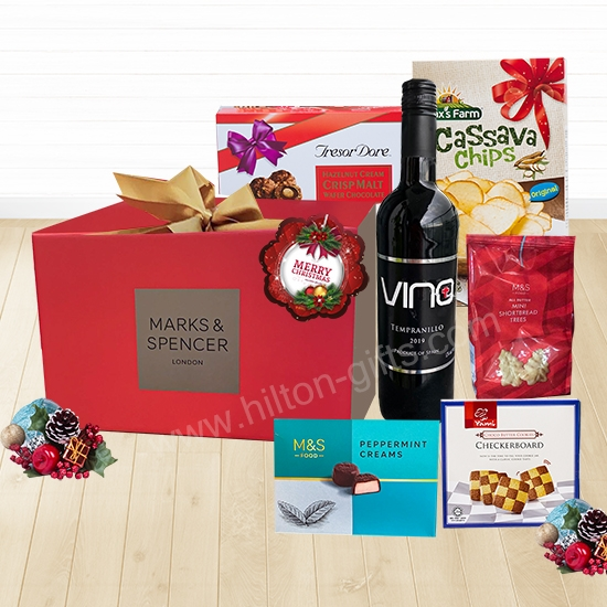 Christmas Mark & Spencer Wine &Chocolate Hamper