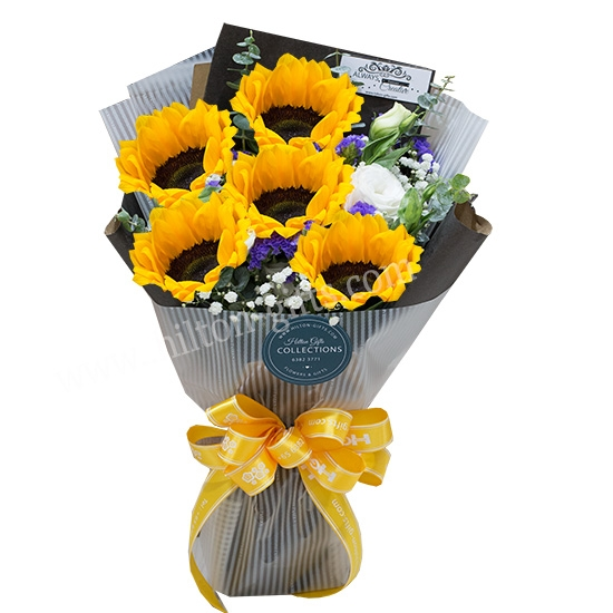 VALENTINES Sun Flower 5 Stk Cash & Carry