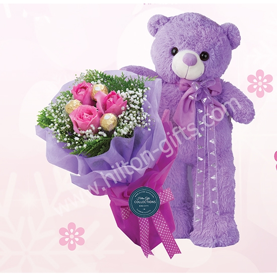 Bear And Hand bouquet
