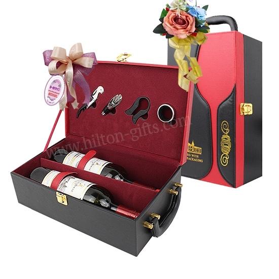 Double Wine Box Red Black